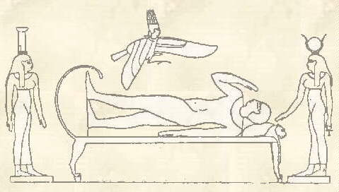 Hieroglyphic of Ra and Osiris. Opetmain
